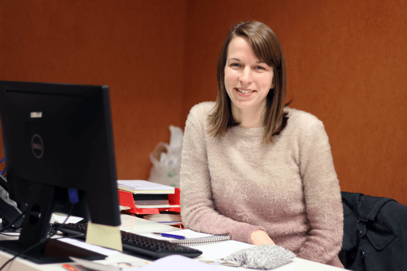 """Caroline came from Belgium to do her internship at CEU UCH: """"I chose to come here and improve my Spanish!"""""""