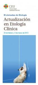 Cartel Jornadas de Etología Clínica
