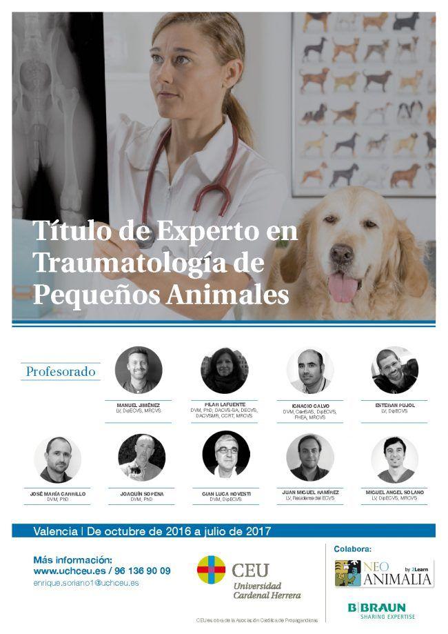 Cartel TE traumatología pequeños animales2016