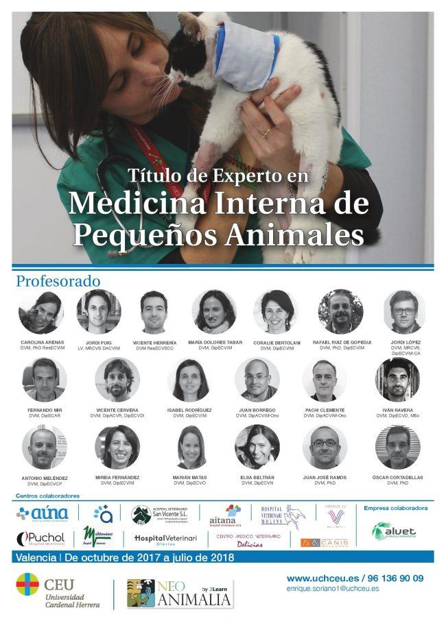 Título experto en Medicina Interna de pequeños animales