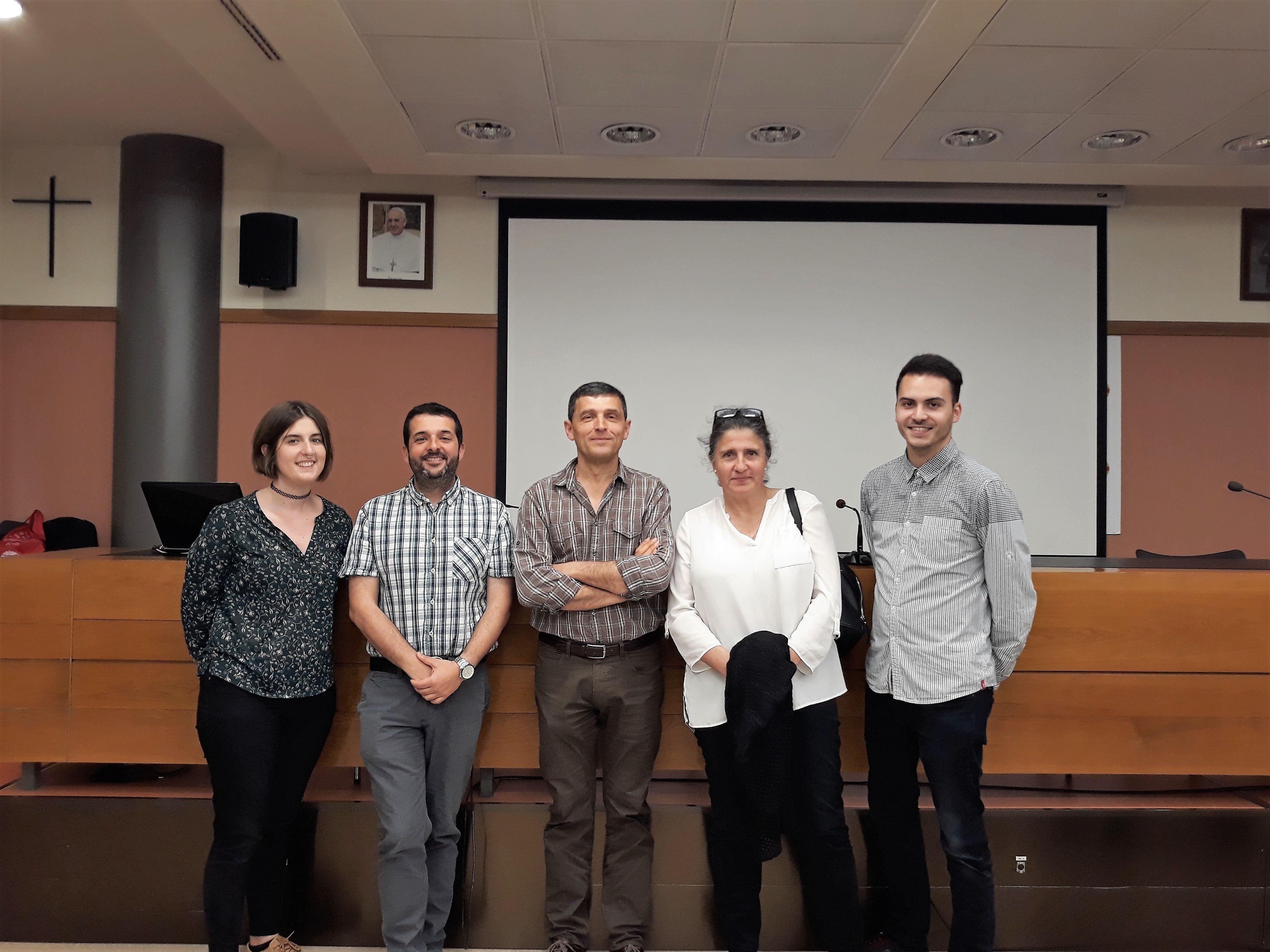 Alba Gómez, Héctor Sanz, Federico Guillén, Cati Gerique y Javier de Juan