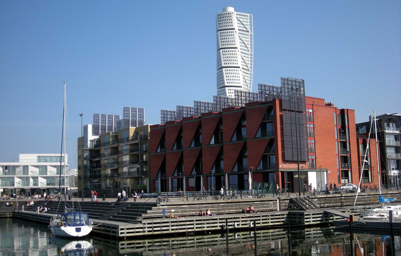 View of Malmö, home city of our student Vidar