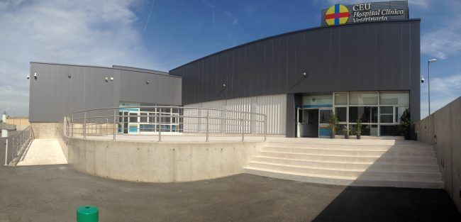 Entrance of the CEU Clinical Veterinary Hospital.