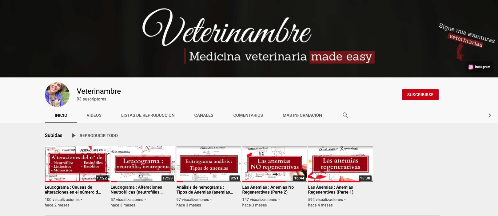 Canal yotube: Veterinambre