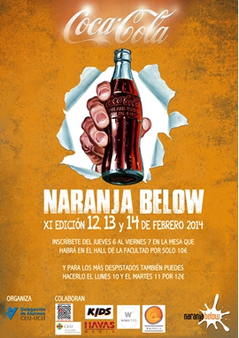 cartel publicitario naranja below