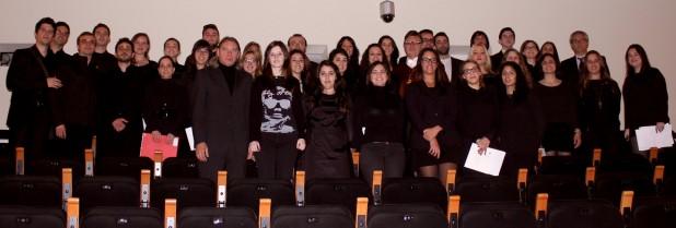 El Orfeón de la Universidad CEU Cardenal Herrera, junto a Mario Moretti Polegato