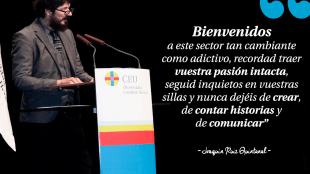 Discurso de Joaquín Ruiz Quintanal Comunicación Audiovisual