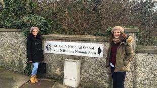 Imagen. Alumnas en Irlanda